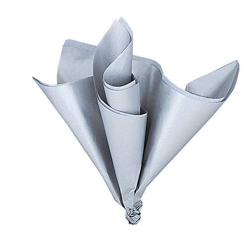 Zijdepapier vellen - metallic zilver - pak van 5