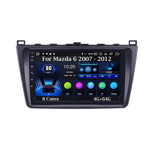 Android 10 9 Inch Pantalla Tactil para Coche Reproductor Car Stereo para Mazda 6 Mazda6 2007 - 2012 8 Cores 4G+64G Radio del Coche Car Player Conecta Y Reproduce Coche Audio USB Mirror Link