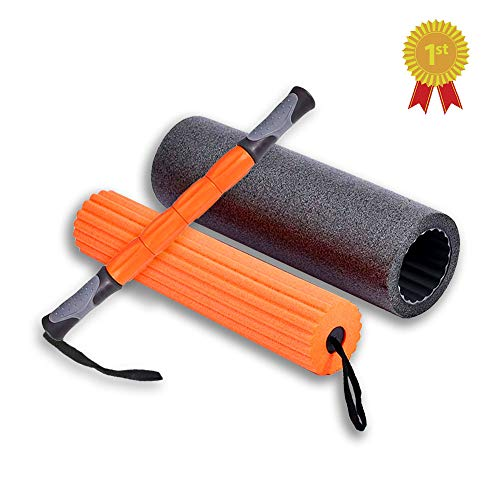 Ultimate Fitness Exercise 3 in 1 Foam Roller Set with Massage Stick is Best for After Training or for Home Gym or Workout Program for Back Leg Exercises. Pain & Tightness Relief