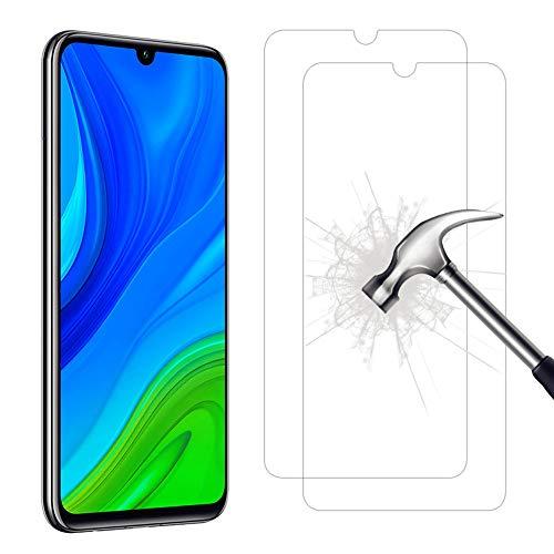 AHABIPERS 2-Pièces Protection écran pour Huawei P Smart 2019/Huawei P Smart 2020/Honor 10 Lite/Honor 20 Lite Verre trempé, HD Full Coverage Premium Film, Anti-Rayures, Ultra Clair Protection Ecran