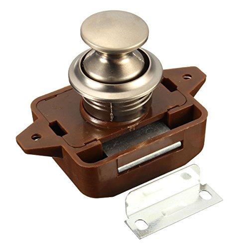 Serratura a pulsante senza chiave, per armadi e porte, 1 pezzo, per camper, roulotte