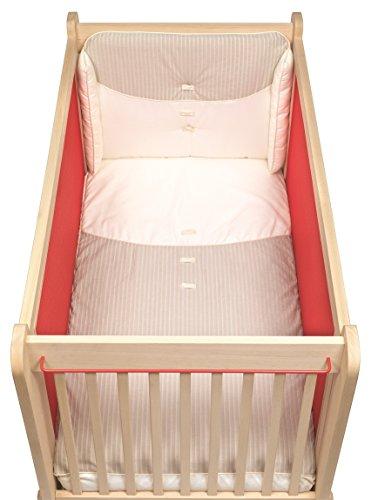 Albero Bambino textiel set 3-delig voor kinderbed 60 x 120 cm.): Sprei, displaybeschermfolie en kussensloop crème/ecru