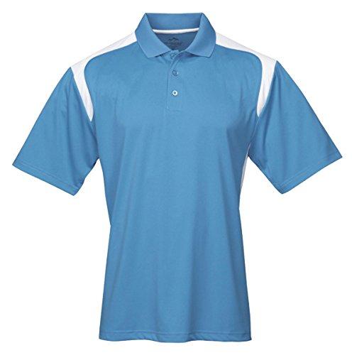 Tri-mountain Mens 100% Polyester UC Knit Polo Shirt. 145TM - COLUMBIA / WHITE_XL