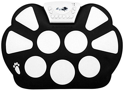 Top-Longer Electrónico Enrolle Drum Pad Kit Silicio Plegable-Tambor portátil y Profesional