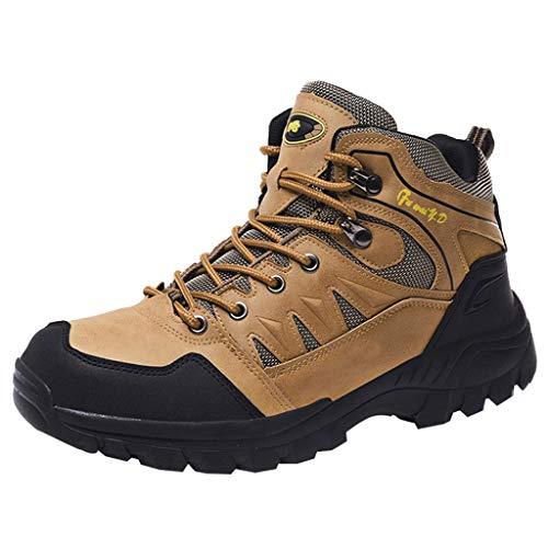 HDUFGJ rutschfeste Trekkingschuhe Wanderschuhe Herren Wasserdicht Outdoor Schuhe für Sport Hiking Trekking- & Wanderstiefel Plus Samt Warm Sneaker Wanderschuhe43 EU(Khaki)