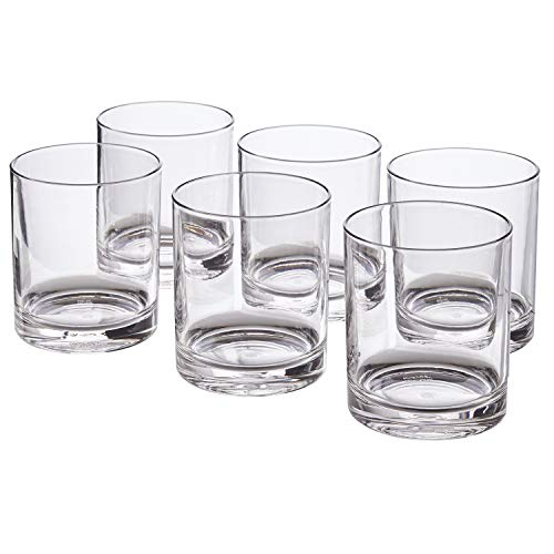 Classic 12-ounce Premium Quality Plastic Tumblers | set of 6 Clear