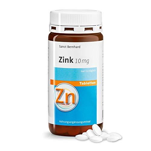 Sanct Bernhard Zinktabletten mit 10 mg Zink pro Tablette, Inhalt 210 Tabletten