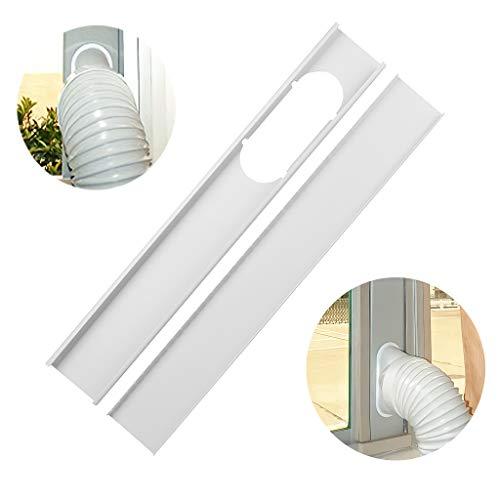 Makeupstory 2PCS Air Conditioner Window Sealing Plate,Portable Air Conditioner Window Vent Kit, Adjustable Length Portable Ac Vent Kit, Window Slide Kit Plate for Portable Air Conditioner