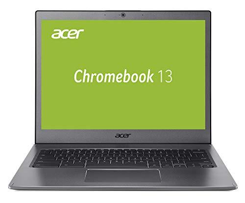 Acer Chromebook 13 33,8 cm (13,3 Zoll QHD IPS) Notebook (Aluminium Unibody, 17 mm flach, bis zu 10h Akkulaufzeit, beleuchtete Tastatur, 2x USB 3,1 (Type-C), HD Webcam, Google Chrome OS) anthrazit
