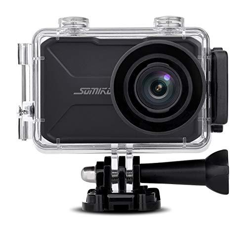 Somikon Aktion Cam: 4K-Action-Cam mit GPS und WLAN, Unterwasser-Gehäuse mit IPX8 (Sportcam)