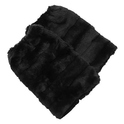 BESPORTBLE 1 Paar Damen Kunstpelz Warm Fuzzy Beinlinge Stiefel Ärmel Stiefelhüllen Winterkostüme für Damen Damen Mädchen (30Cm)