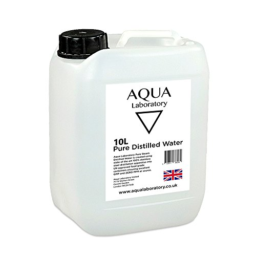 Aqua Laboratory 0.0 PPM Pure Steam Distilled Water (10 litres in UN Container & Tamper Evident Cap) - High Grade Pure Water
