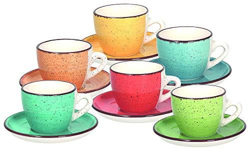 Tognana LS18534M043 Art & Pepper - Juego de 6 tazas de café...