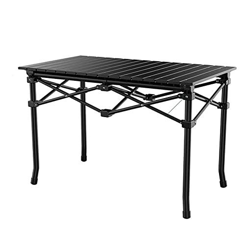 CZYNB Mesa de camping plegable para barbacoa, mesa de camping, ligera y portátil, para interior y exterior, para uso como mesa de picnic (tamaño 95 cm)