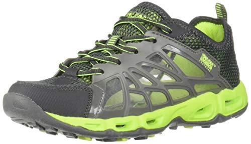 RocSoc Mens Wet/Dry Mesh Walking Water Shoes Beach Footwear, Grey/Green, 11 M US