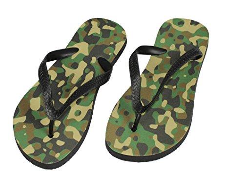 S.B.J - Sportland Flip Flops Camouflage, Tarnfarbe Schuhe/Slipper Badeschuhe Flip-Flop Badelatschen Badeschlappen Sandale Zehentrenner, Gr. 35-40