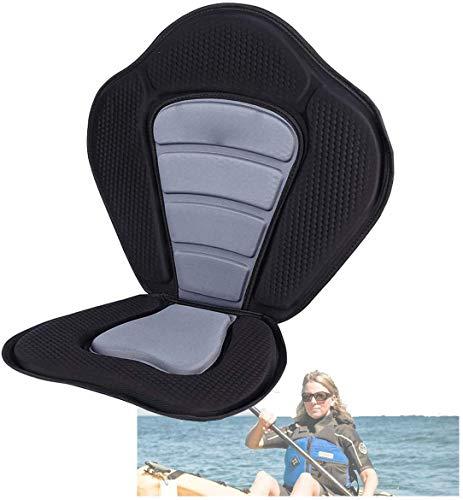 Kajak Sitz für SUP Board Stand Up Paddle Verstellbare Rückenlehne Sitzkajaks, Gepolsterter Rutschfester Sitz Deluxe Gepolsterte Kajak Sitz mit Tragetasche Dicker Kajak-Sitz Rückenlehne Sitzauflage