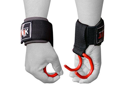 Kikfit Haken für Gewichtheben, Training, Gymnastik, Handschuhe, Handgelenkstütze