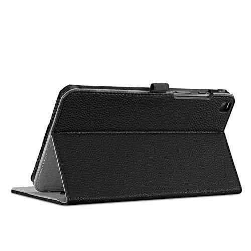 Fintie Hülle für Samsung Galaxy Tab A 8.0 2019 - Multi-Winkel Betrachtung Kunstleder Schutzhülle mit Dokumentschlitze für Samsung Galaxy Tab A 8.0 Zoll SM-T290/T295 2019 Tablet, Schwarz