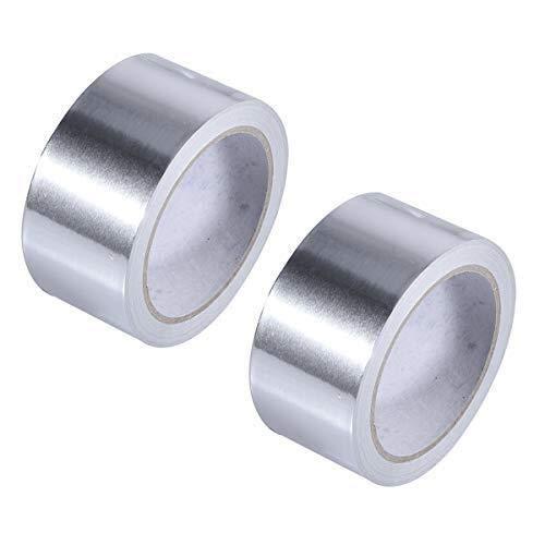 Aluminiumfolie-Klebeband Klebeband Hitzebeständiges Aluminium-Klebeband Isolierband für Reparaturen, Kanäle, Isolierungen, Trockner und mehr (Silber, 4 cm breit * 50 Meter lang) Teppichklebeband