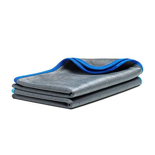 LICARGO® 2X Premium Carbontücher - Microfaser Glastücher für kristallklare Autoscheiben ohne Streifen & Schlieren - Scheibentuch mit 350 GSM - Carbon Tücher Auto, Microfasertuch Glas - 50x40 cm
