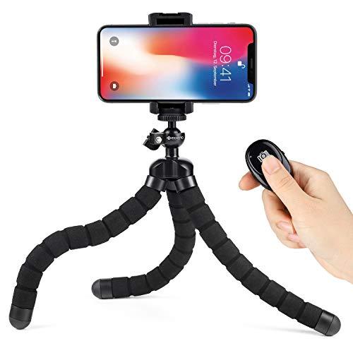 GEEKOTO Oktopus Handy Stativ,Flexibel Smartphone Stativ,Handy Halter Halterung für Kamera,Kompatibel mit iPhone/Android Samsung, Mini-Stativhalter für Kamera GoPro/Handy