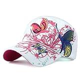 Casquette de Baseball Casquettes De Baseball Nouveau Haute Qualité Papillons Et Fleurs Broderie Casquettes D'Été Et d'automne Mode Femmes Chapeau De Baseball