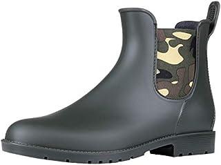 Asgard Women's Short Rain Boots Waterproof Slip On Ankle...