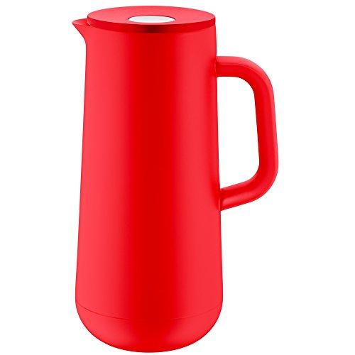 WMF Impulse Thermoskanne 1l, Isolierkanne für Kaffee oder Tee, Drehverschluss, hält Getränke 24h kalt und warm, rot