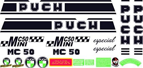 Kit de adhesivos motos clasicas Puch MINICROSS MC 50 Mini Especial - Juego Pegatinas Completo - Vinilo para Moto, máxima Calidad.