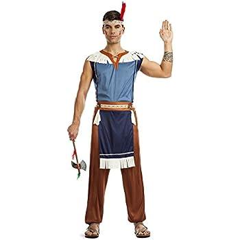 atelier bro s.l.u. Disfraz Indio Apache Hombre M-L: Amazon.es ...