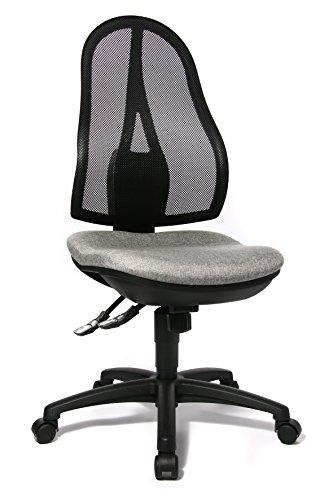 Topstar OP200G23 Open Point SY, Bürostuhl, Schreibtischstuhl, ergonomisch, Bezug hellgrau