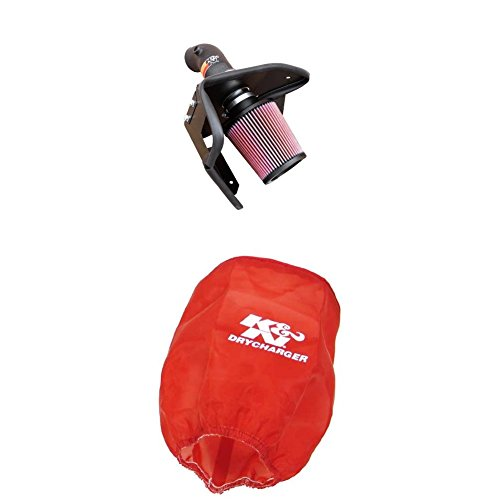 K&N 57-1002 Performance Air Intake System with Red Air Filter Wrap