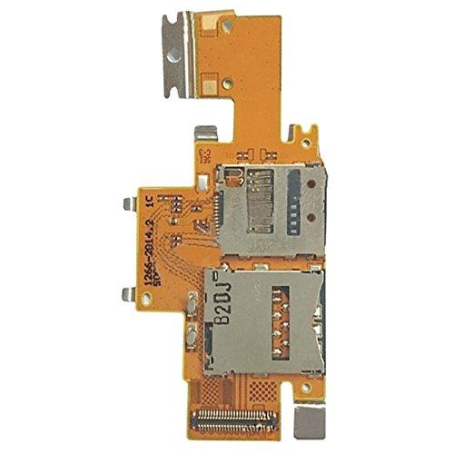 Compatibele Vervangings IPartsBuy SIM-kaart en SD-kaartlezer Contact Flex-kabel for Sony Xperia Tablet Z / SGP311 / SGP312 / SGP321 Accessory
