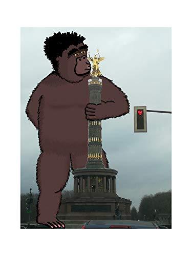 Coole Postkarte | King Kong in Berlin in Love | Siegessäule
