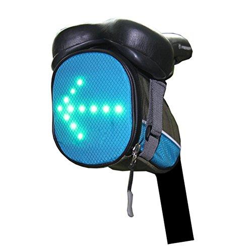 Navigatee sans Fil télécommande Avertissement LED lumière Clignotant Sac de circonscription pour Le Guidage de Nuit de vélo de Guidage d'avertissement (Vert, Bleu)