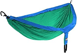ENO Eagles Nest Outfitters DoubleNest Hammock Royal/Emerald with Atlas Straps