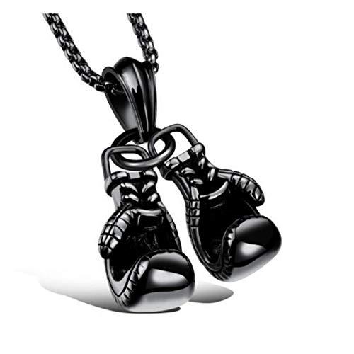 VFDGB Guantes De Boxeo Collar Deportivo De Aleación De Zinc Collares Pendientes MoverJoyas Mejor Juego De Regalo Joyas De Regalo