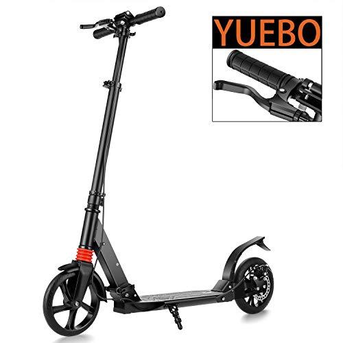 YUEBO Roller Erwachsene Tretroller klappbar Adult Scooter mit Handbremse Kickroller für Erwachsene und Kinder,bis 100kg belastbar