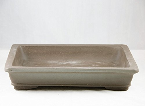 Flat Rectangular Yixing Zisha Bonsai Pot 14.25'x 10.25'x 2.75'