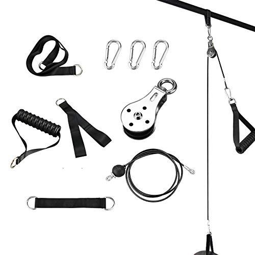 TsLolly Poleas de fitness, sistema de fijación para máquinas de cables, poleas para bricolaje, sistema de fuerza de brazo, equipo de entrenamiento