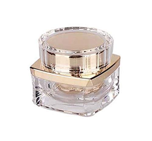 1 flacon de 30 ml en acrylique avec couvercle à visser et support de maquillage en polypropylène, doré (Or) - ZLL04846