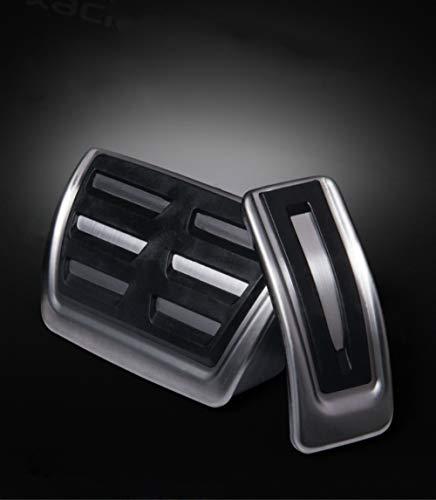 Por A4/A5/A6/A7/Q5 Pedal del coche AT automatico Cubierta pedales acelerador freno Acero inoxidable Caucho No se oxida PPE Antideslizante 2 piezas