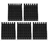 5 Unids Aleta de enfriamiento del disipador de calor de aluminio 40 × 8 × 30mm Aleta de...