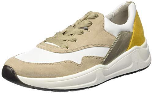 Gabor Damen Comfort Basic 46.305 Sneaker, Weiß (Weiss/Beige/Sun 52), 38.5 EU
