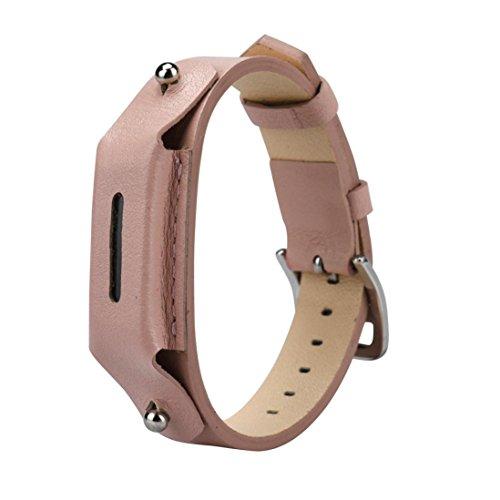 Ouneed® Uhrenarmband Armband , Luxus Leder Uhrenarmband Armband Für Fitbit Flex 2 (Rosa)