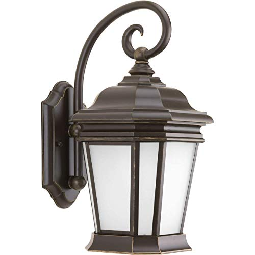 Progress Lighting P5686-108 Traditional One Light Wall Lantern from Crawford Collection Dark Finish, Oil Rubbed Bronze