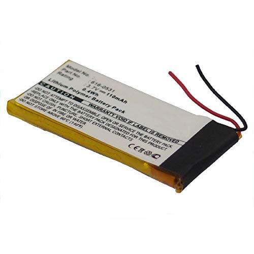 subtel®Batterij compatibel met Apple iPod nano 6 Gen. A1366, 616-0531 110mAh Vervangende Accu Battery