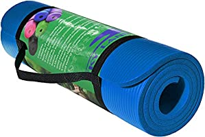 Skyland Yoga Mat, Blue- 10mm Thick