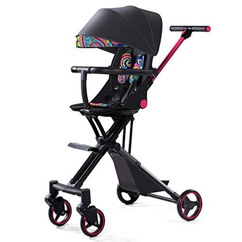 Baby Stroller Can Sit, Recline, Light Folding Umbrella, Portable Children's Baby Stroller,Blue